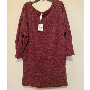 Haute fox forever 21 knit tunic in wine color, 3X